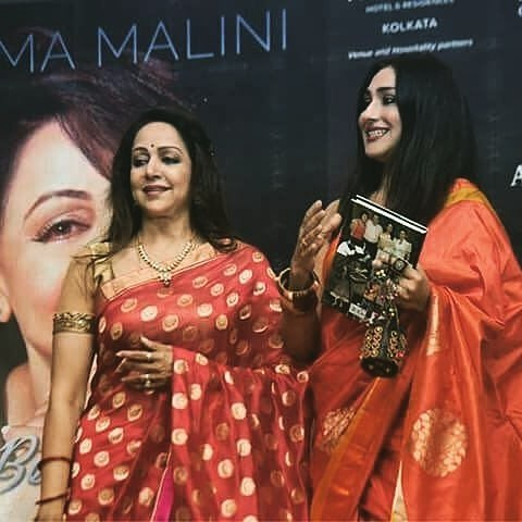 Hema Malini: Book Launch Event Styling